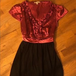 Bebop magenta and black dress